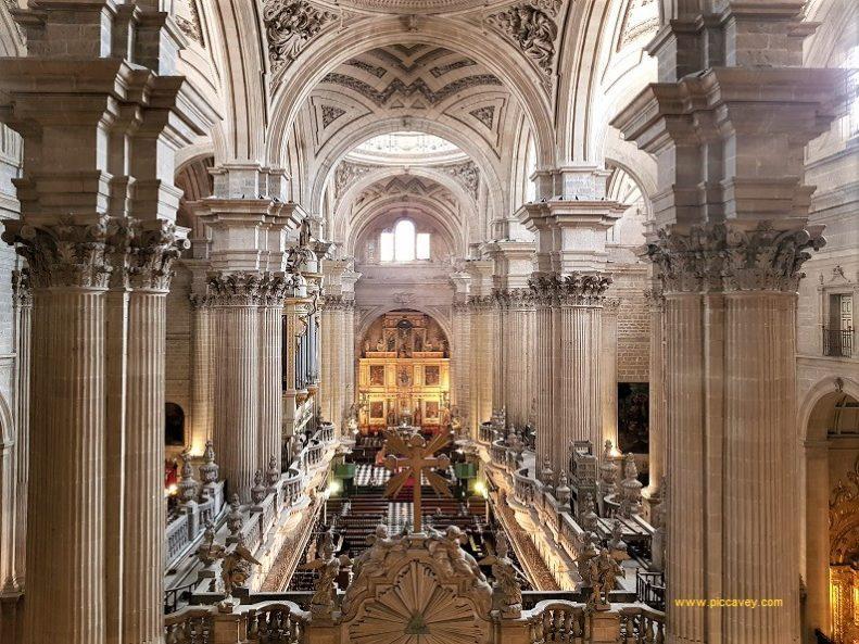 Inside Jaen Cathedral Spain