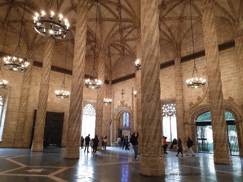 Inside Lonja de la Seda Valencia Spain