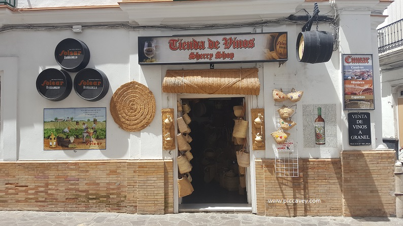 Jerez Sherry Shop in Sanlucar de Barrameda Spain