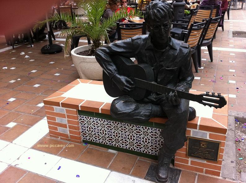John Lennon Almeria Statue