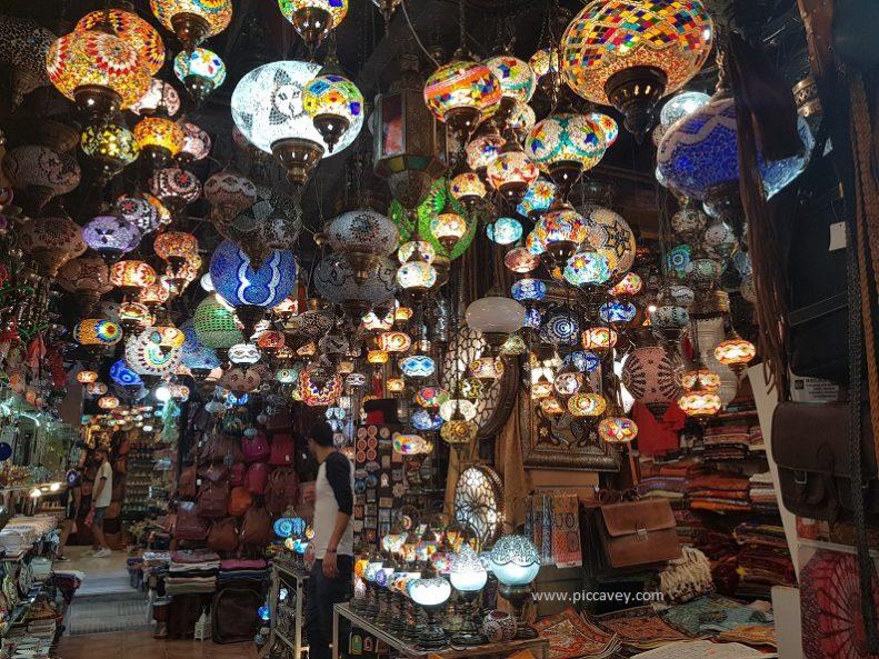 Lamps at Alcaiceria Granada Spain