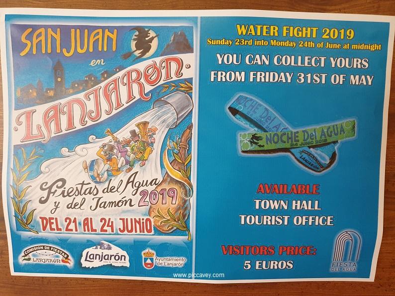 Lanjaron Water Fight June Alpujarra