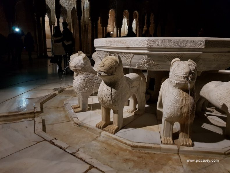 Lions Courtyard The Alhambra Palace Granada Spain blog