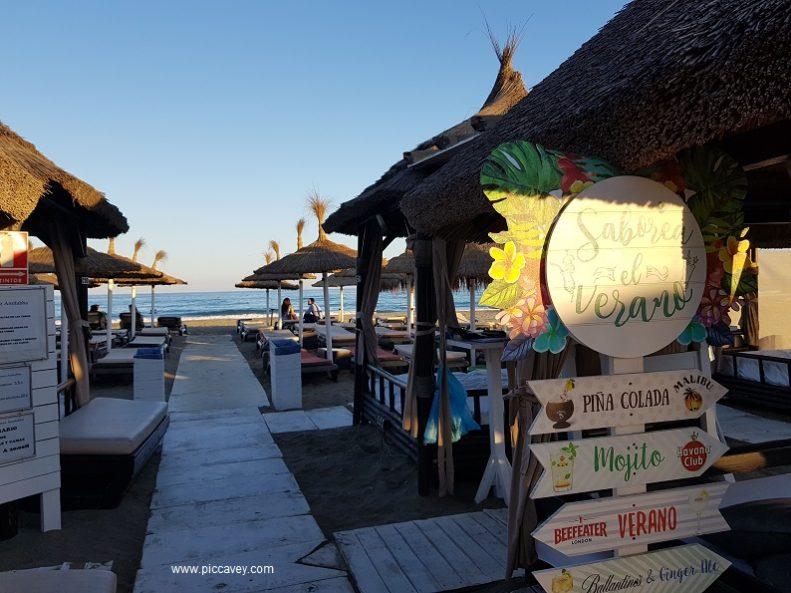 Malaga Beach Bar Costa del Sol best time to visit spain
