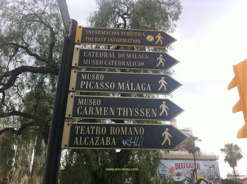 Malaga City Signpost