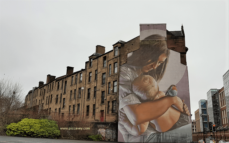 Mother Baby Mural Glasgow Scotland