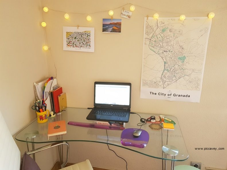 Mujumaps Home Office Desk Map Granada Spain