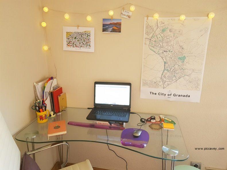 Mujumaps Home Office Desk Map Granada Spain