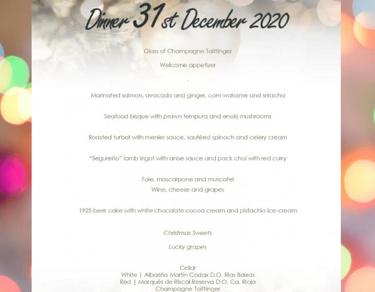 New Years Eve 2020 Granada Spain Hospes Palacio de los Patos