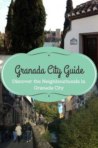 Neighbourhoods of Granada city Spain