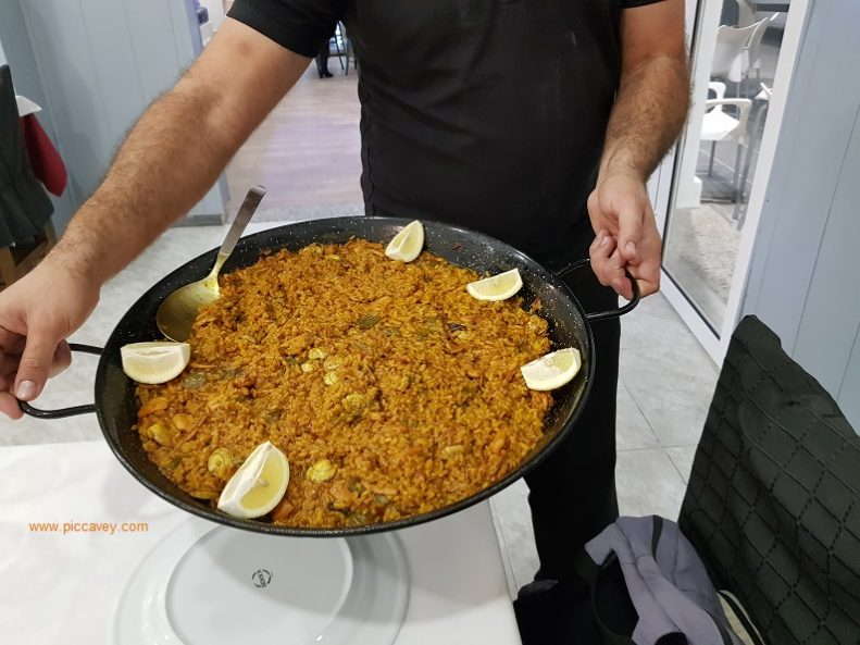 Paella at El Parque in Almeria Spain