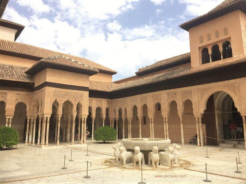 Patio Leones Nasrid Palace Alhambra Granada