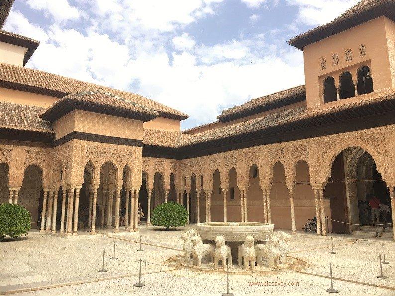 GDPR Patio Leones Nasrid Palace Alhambra Granada