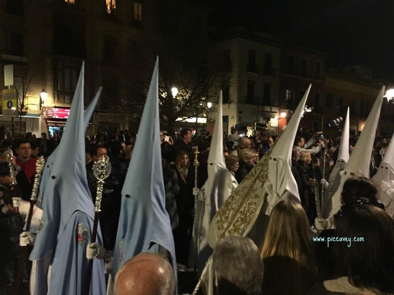 Penitentes in Granada Spain