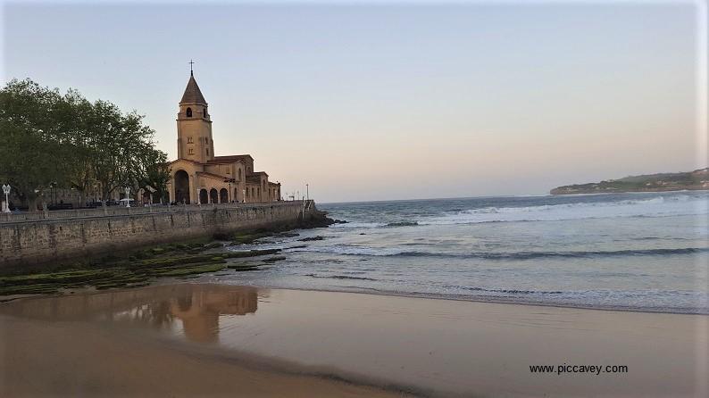 Playa de San Lorenzo Gijon Asturias Spain by piccavey