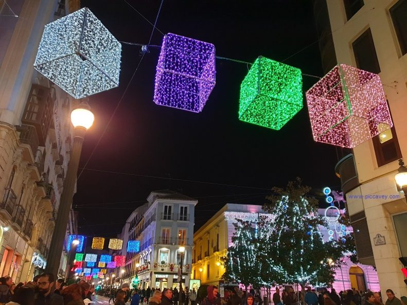Reyes Catolicos Granada Spain Christmas Lights 2018