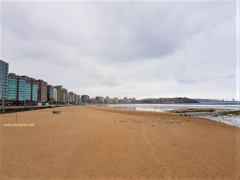 River Piles San Lorenzo Beach Gijon Asturias