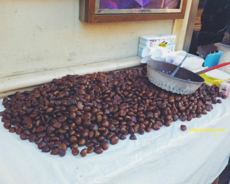 Roast Chestnuts Spanish Street Food