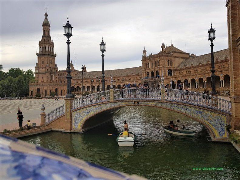 Row boat at Plaza de España Sevillle Spain