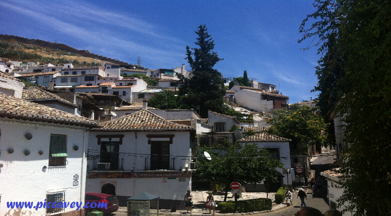 The wall above the Sacromonte