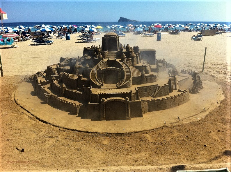 Sandcastle benidorm beach