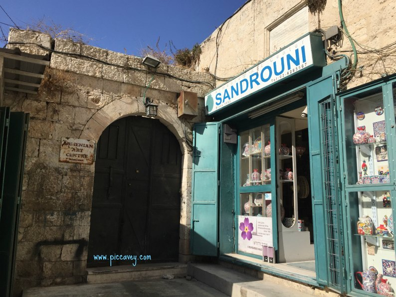 Sandrouni ceramics in Jerusalem