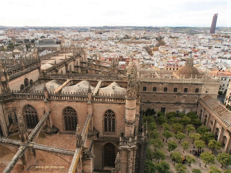 Seville Cathedral Spain View from Giralda