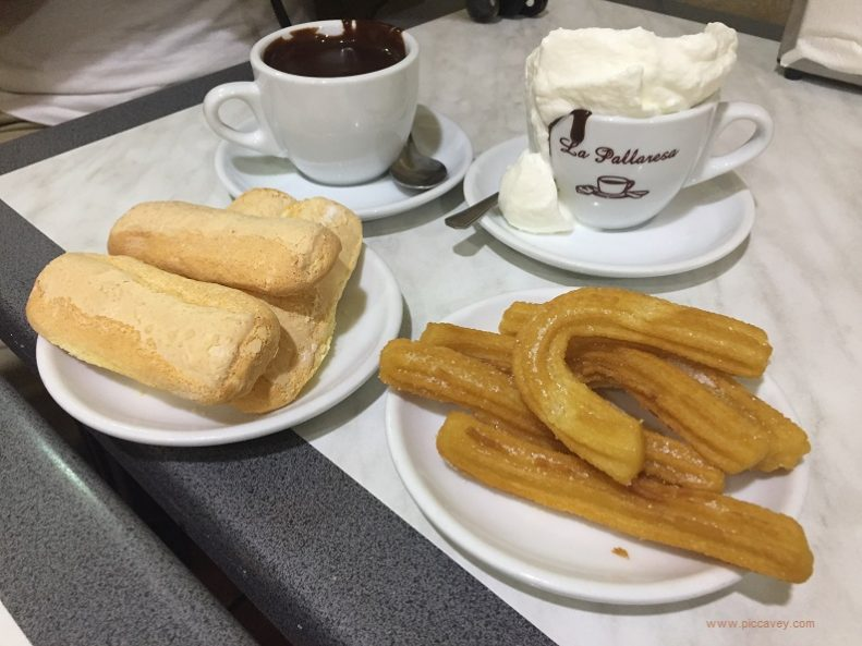 Spanish Churros and Melindros with Chocolate at Granja Petrixol Barcelona