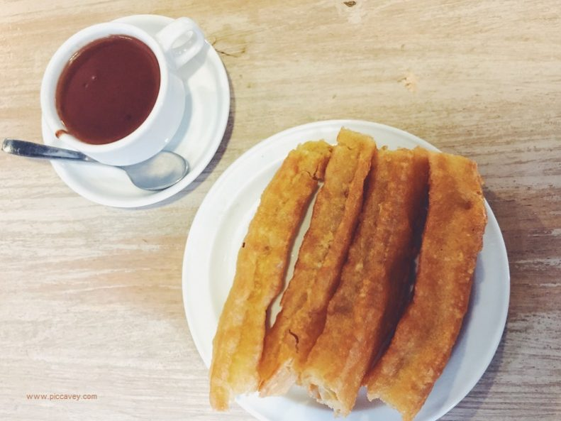 Spanish Churros and thick chocolate