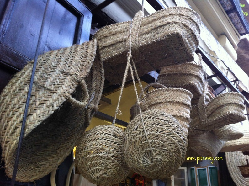 Spanish crafts Baskets in Valencia