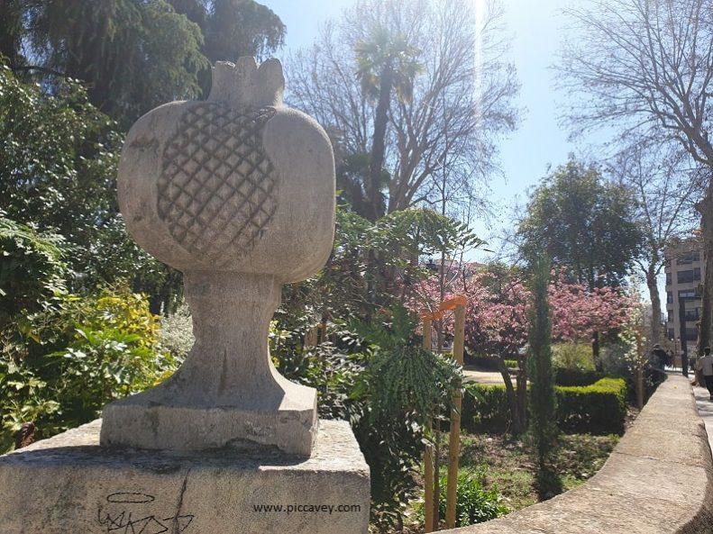 Stone Pomengranate Jardines del Salon Granada Spain