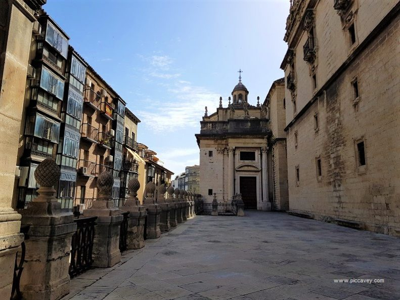 Street alongside Jaen Cathedral Spain by piccavey