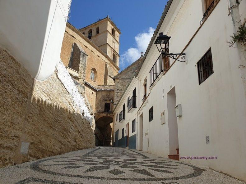 Street in Alhama de Granada Spain