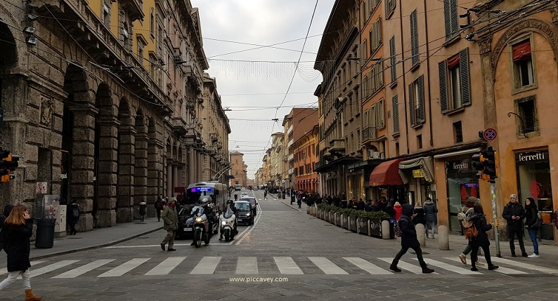 Streets of Bologna Italy