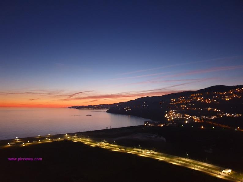 Sunset from Salobreña Castle Southern Spain