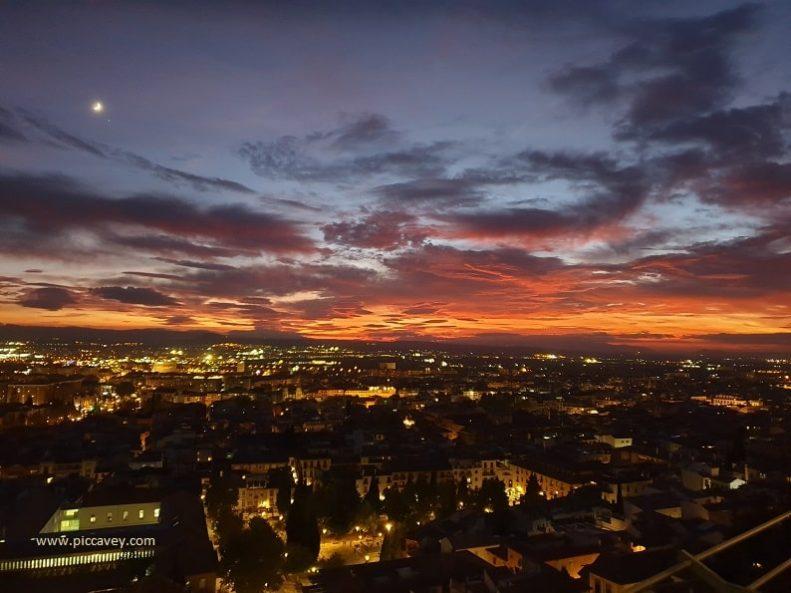 Sunset in Granada Spain