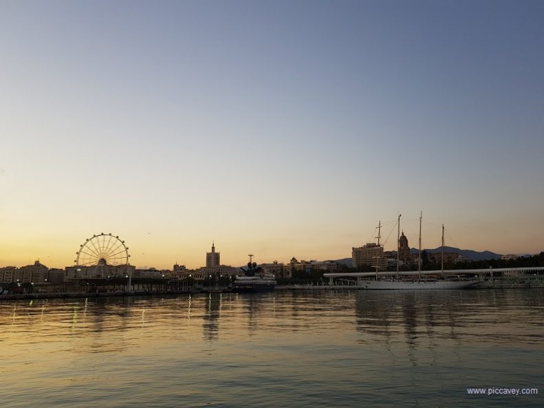 Spain Sunset walk Malaga Muelle Uno by piccavey