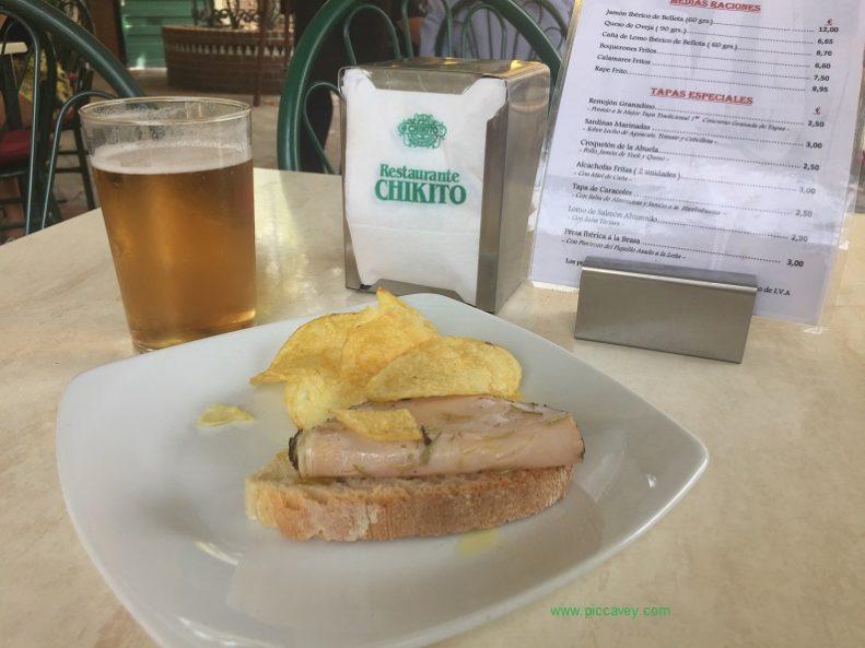 Tapas Eat in Granada Spain
