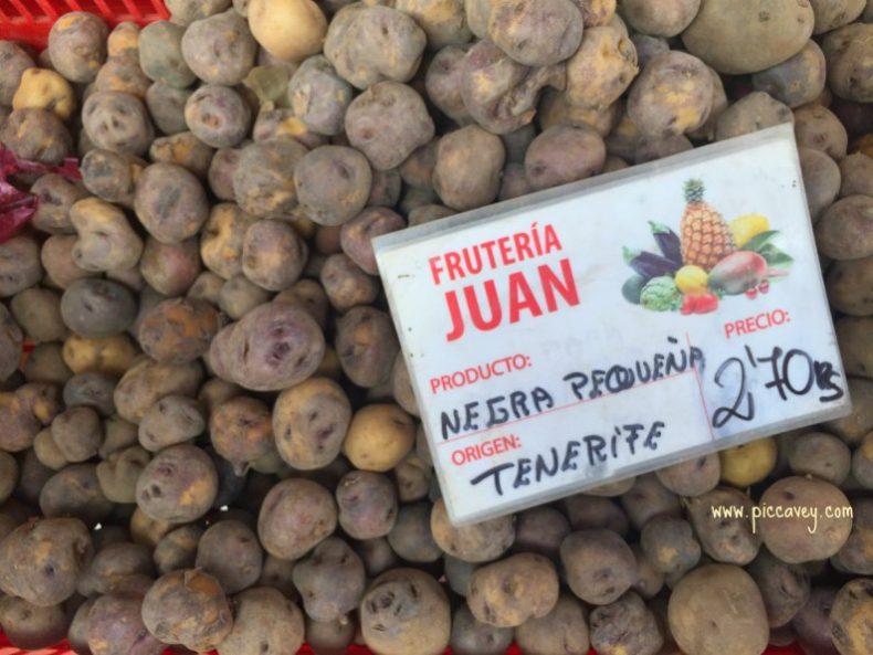 Tenerife Food papa negra potatoes