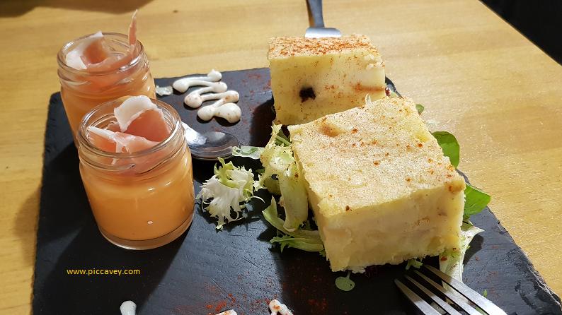 Tortilla de Patatas Tapa in Granada Spain