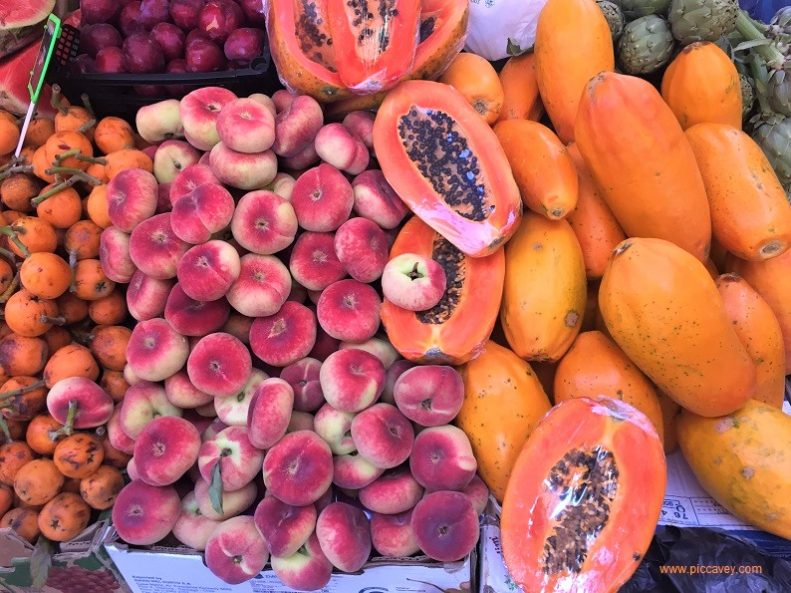 Tropical fruits Canary Islands Market tenerife