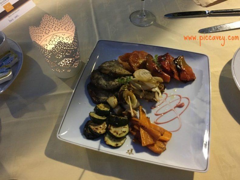 Dinner at Parador Granada Spain