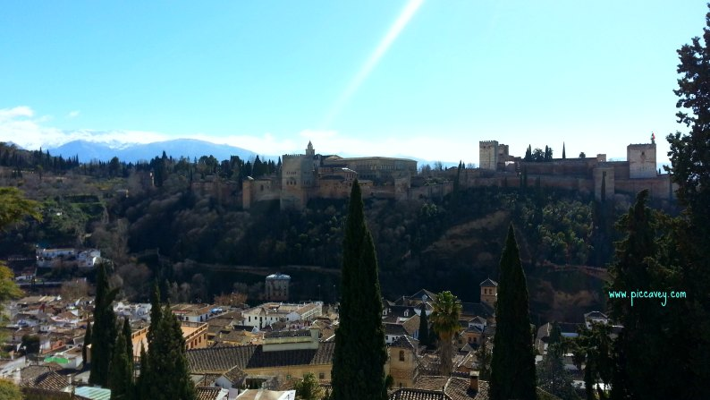 View from Carmen in Albaicin Granada
