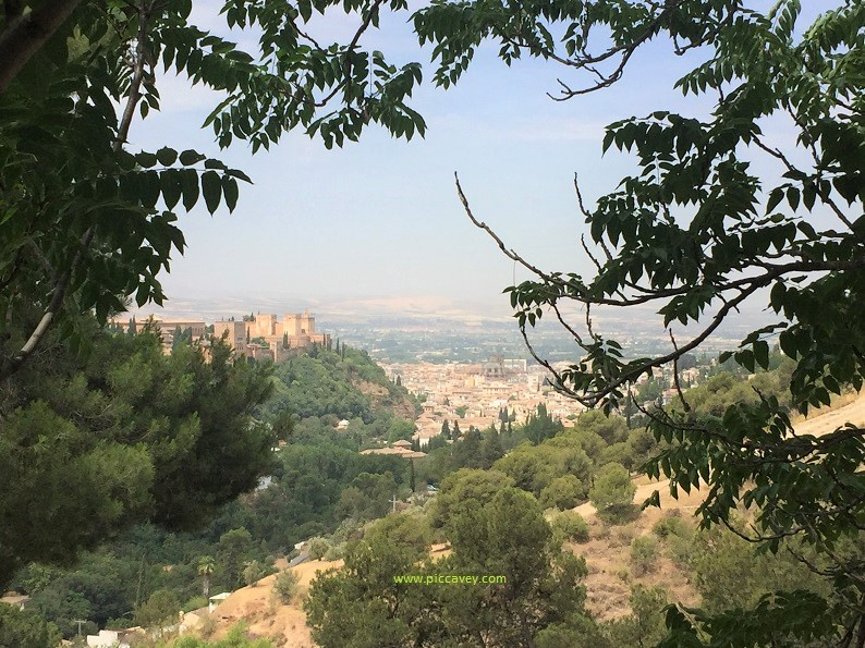 View from Sacromonte in Granada Spain