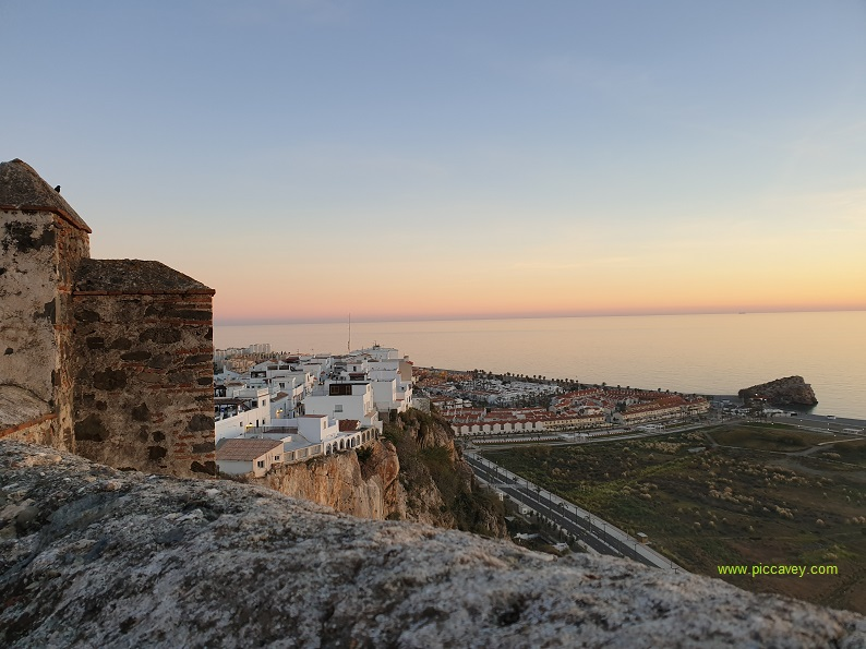 View from Salobrena Castle Costa Tropical Spain