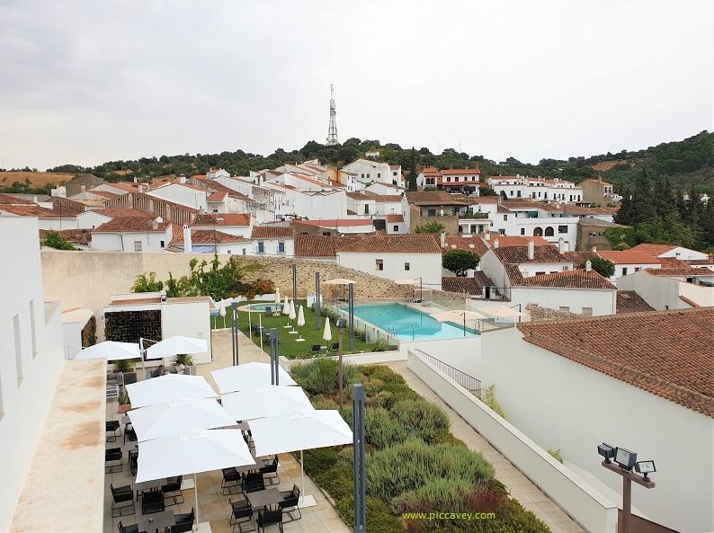View over Aracena Huelva