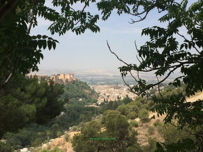 Views from Sacromonte in Granada Spain