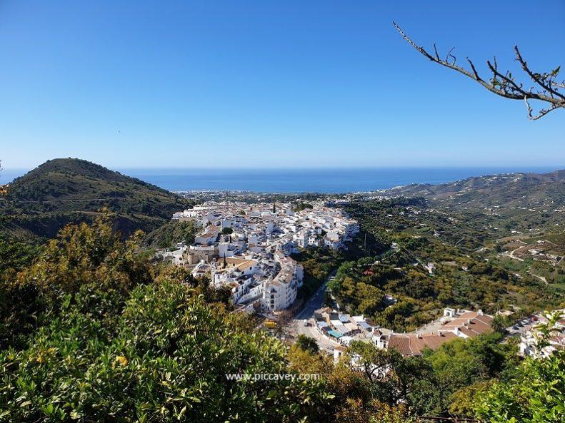 Views from the Castle Frigiliana Costa del Sol