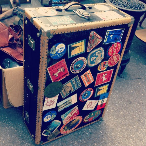 Vintage Suitcase Stickers Travel Case