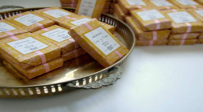Vintage packaging Granada local soap Spain
